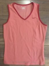 Women's Nike FitDry Pink Athletic Sleeveless Tank Top Size Medium (8-10) 225647