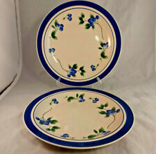 """Set of 2 LL Bean Blueberry 11"""" Dinner Plates"""
