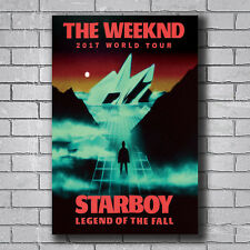 N-453 The Weeknd 2017 World Tour Starboy Music Hot Wall Poster Art 20x30 24x36IN