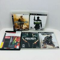 Call Of Duty Modern Warfare 2 3 4 Black Ops Advanced Warfare PS3 Lot Of 5
