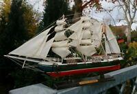 """Traditionssegler """"Rickmer Rickmers"""" Modell Holz  viele kleinen Details 50x31x9cm"""