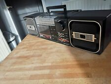 Vintage PHILIPS D-8256 Stereo Radio Cassette Recorder Cubic Speakers Boombox
