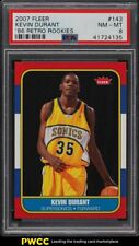 2007 Fleer '86 Retro Rookies Kevin Durant ROOKIE RC #143 PSA 8 NM-MT