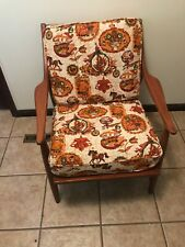 VTG MidCentury Danish Modern Lounge Arm Club Chair 60's Upholstery BEAUTY