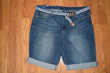 58de948bb8 NWT Womens BANDOLINO Riley Denali Medium Wash Blue Bermuda Denim Shorts  Size 14