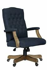 Boss Office Products Boss Executive Navy Commercial Grade Linen Chair With Dr