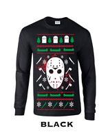 649 Jason Christmas Sweater Long Sleeve funny scary gift ugly horror holiday new