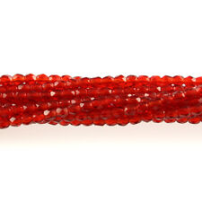 Ruby Red - 50 3mm Faceted Round Fire Polish Czech Glass Beads