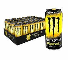 Monster Energy Rehab Tea + Lemonade + Energy, Iced Tea, 15.5 Ounce