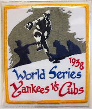 1938 World Series Patch Card Willabee & Ward ~ New York Yankees vs Chicago Cubs