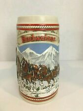"Limited Edition 1985 Vintage Budweiser Holiday Beer Stein Clydesdales ""A""Series."