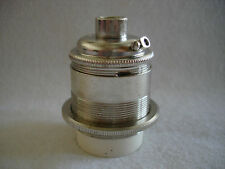 NICKEL PLATED  LAMP HOLDER 10MM ENTRY E26 BY LILLEY FOR EDDISON SCREW LAMPS ES