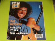JAZZ HOT - N° 450 - MARS 1988 - PAT METHENY - STAN GETZ ...