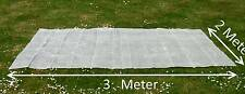 Gitterfolie 2 x 3 Meter transparent weiß Abdeckung Windschutz Sichtschutz Schutz