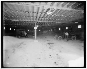 Interior,garage,automobile,Fort William Henry Hotel,Lake George,New York,N 5457