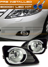2010-2011 Toyota Camry LED Fog Lights Clear Lens Front Driving Lamp Complete Kit