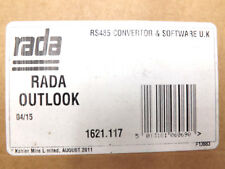 RADA OUTLOOK RS485 CONVERTOR AND SOFTWARE UK FOR DUTY FLUSHING SET UP FREE POST
