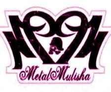 20 water slide nail art  metal mulisha with pink and black heart trending