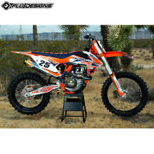 KTM SX/EXC 125-250F/ 250-450F 05-07. FLU PTS 3  FULL GRAPHIC STICKER  KIT