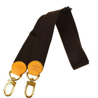 Auth LOUIS VUITTON Shoulder Strap Canvas Leather Brown Gold Accessory 61MG851