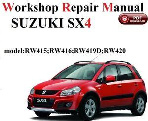Suzuki SX4   WORKSHOP SERVICE MANUAL  FULL VERSION 2006-2014 year