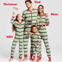 US Family Matching Christmas Pajamas Set Women Baby Kid Sleepwear Nightwear Gift