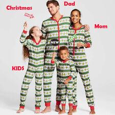 AUStock Family Matching Xmas Pajamas Set Women Kid Adult PJs Sleepwear Nightwear