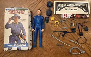 Vintage Marx Johnny West Adventure JWA Royal Blue Captain Maddox Box RARE