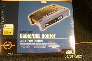 LINKSYS cable /DSL router w/4 port switch-model BEFSR41--NEW-NEVER OPENED