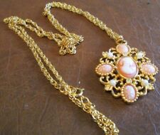 "AVON*VINTAGE*ROMANTIC POET NECKLACE*1992*NIB* 31 1/2"" LONG/CAMEO 1 3/4"" REDUCED"