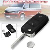 2 Buttons Remote Key Fob Case For VW VOLKSWAGEN TRANSPORTER T5 AMAROK  I W