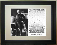 Theodore Teddy Roosevelt The Man In The Arena Speech Famous Quote Framed Photo