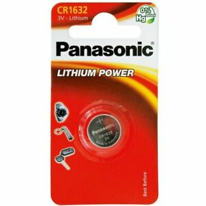2 Panasonic CR1632 3V Lithium Coin Cell Battery 1632 DL1632 BR1632 Longest EXP