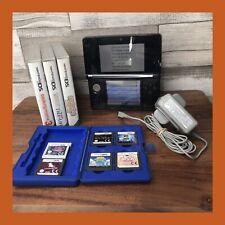 Black Nintendo 3DS - PAL - CONSOLE Official CHARGER Games Bundle DS Mario Stylus