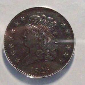 1826 CLASSIC HEAD HALF CENT Early Cent ANACS XF-40 #17C50