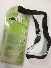 Apple iPod mini Extreme Silicon Case with Neck Lanyard/Wrist Strap,Clip in Clear