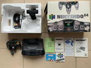 Nintendo 64 Smoke Grey Konsole - OVP/CIB/Boxed - PAL/EUR - TOP Zustand