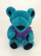 Vintage Grateful Dead Teal Blue Jointed Bear Purple Collar Plush Stuffed Animal