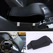 Sports Black Leather Armrest Cushion Arm Support For Car SUV Center Console