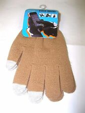 BEIGE TAN THERMALTECH RUNNING WINTER GLOVES WITH TOUCH SCREEN PHONETHUMB-NEW