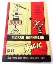 1950's Flosso-Hornmann Magic Co. Catalog New York