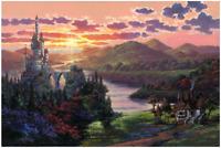 Disney Fine Art Limited Edition Canvas The Beauty In Beast's Kingdom-Gonzalez