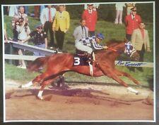 Secretariat autograph Ron Turcotte 11x14 Preakness Stakes