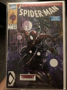 "Spider-Man 1, ""DOOM torment""               Clayton Crain SIGNED w/ COA, NM+"