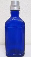 Vintage McKesson's Blue Cobalt Poison Bottle #M4 with Cap