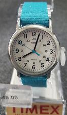 Timex Women's Weekender Blue Nylon Strap Watch T2N836 - Retail $45 (53% off)