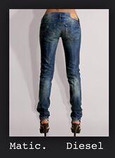ladies DIESEL MATIC LOW 008SV Taper leg SKINNY SKINNY JEANS woman W26 L32 size 8