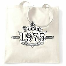 43rd Birthday Tote Bag Vintage 1975 Aged To Perfection Forty Third Gift
