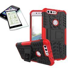Hibrido Funda Estuche Exterior 2teilig Rojo para Huawei Honor 8 +