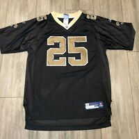 REEBOK REGGIE BUSH #25 NEW ORLEANS SAINTS BLACK GOLD JERSEY XL YOUTH
